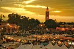 Souk van Marrakech Stock Afbeeldingen