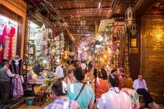 Souks购物的马拉喀什摩洛哥 免版税库存图片