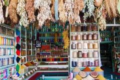 Souks de las hierbas y de las especias de Marrakesh Imagen de archivo