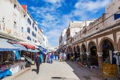 Souks in Essaouira, Marokko stock afbeeldingen