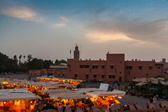 The Souks, Marrakesh, Morocco Royalty Free Stock Photos