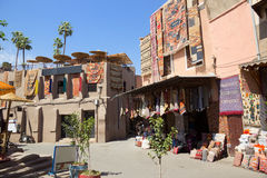 Souks textil Marrakech arkivbilder