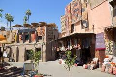Souks textile Marrakech Stock Images