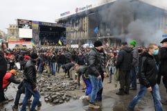 Soulèvement à Kiev, Ukraine Photographie stock libre de droits