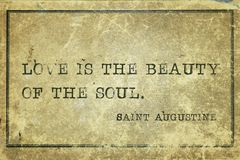 Soul beauty Saint Augustine Stock Image