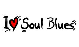 Soul blues music style love. Creative design of Soul blues music style love vector illustration