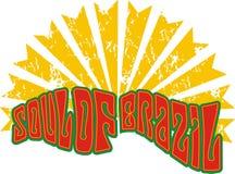 Soul of the brazil. Write a T-shirt graphic design themed birezil described stock illustration