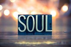 Soul Concept Metal Letterpress Type Stock Photo