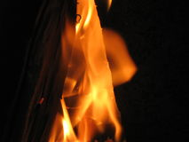 Soul of the Fire. Fire is erupting from between the two logs which give it eternal power for all the time that the fire is held Royalty Free Stock Photos