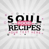 Soul food recipes for healthy and fresh foods royalty free illustration