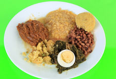 Soul Food Vegetable Plate Stock Image