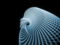 Soul Geometry Propagation. Geometry of Soul series. Abstract design made of profile lines of human head on the subject of education, science, technology and Royalty Free Stock Photography