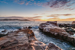 Soul Lifting Rocky Sunrise Seascape. Taken at Avoca Beach, Central Coast, NSW, Australia Royalty Free Stock Images