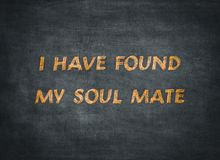 Soul mate forever friend happy typography type stock images