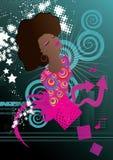 Soul music. Soul singer music background vector illustration Stock Photography