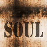 Soul music grunge background Royalty Free Stock Images