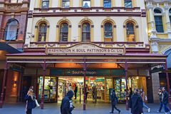 Soul Pattinson Chemist store at Pitt Street, Sydney Central Business District. Washington H. Soul Pattinson and Company Limited is an Australian investment Royalty Free Stock Images