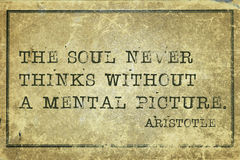 Soul pic Aristotle Stock Image