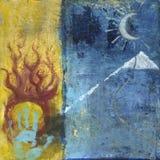 Soul Seeker Spiritual Art Painting Royalty Free Stock Photo