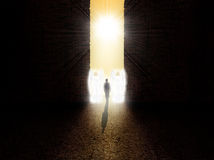 Free Soul Standing At The Entrance To Paradise Royalty Free Stock Photos - 50753228