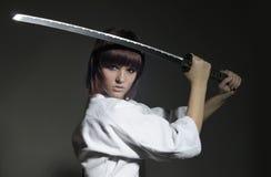 Soul_of_warrior (katana) #1 Fotografie Stock Libere da Diritti