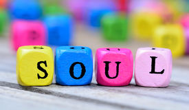 Soul word on table. Soul word on wooden table royalty free stock images