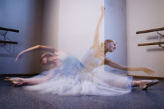 Soul of young ballerina. Soul of pretty young ballerina is dancing Royalty Free Stock Photography
