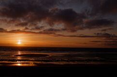 Soulac sunset Royalty Free Stock Photography