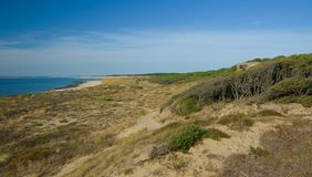 SOULAC SUR MER, ΓΑΛΛΊΑ - 9 ΣΕΠΤΕΜΒΡΊΟΥ 2015: Ακτή ofcarousel σε Allï ¿ ½ ES de Tourny, Μπορντώ, Aquitaine, Γαλλία, το Σεπτέμβριο  Στοκ Εικόνες