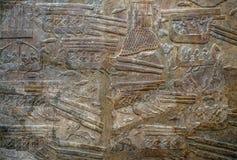 Soulagement égyptien antique d'art sur la pierre comme fond Images libres de droits