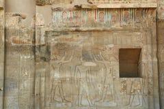Soulagement dans le temple de Kom Ombo Photographie stock