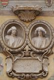 Soulagement de Bas d'un avant sur les signori de dei de Piazza à Vérone Photo libre de droits