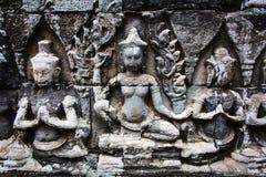 Soulagement de Bas dans Banteay Srei, Cambodge Photos libres de droits