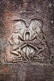 Soulagement de Bas dans Banteay Srei, Cambodge photos stock
