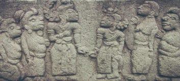 Soulagement de bouddhisme de beauté dans le temple Images stock