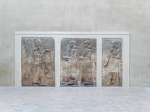 Soulagement de Cour Khorsabad, Assyria - musée de Louvre Images libres de droits