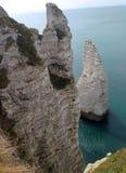 Soulagement de falaises en Normandie, France Photographie stock