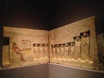 Soulagement de la chapelle du contrôleur des troupes Sehetepibre au Musée d'Art métropolitain Photographie stock libre de droits