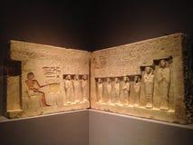Soulagement de la chapelle du contrôleur des troupes Sehetepibre au Musée d'Art métropolitain Image stock
