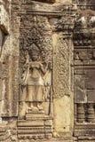 Soulagement de temple de Prohm de ventres, Angkor Thom, Siem Reap, Cambodge Photo libre de droits