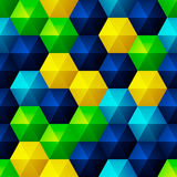 Soulagement Emerald Hexagons Photos libres de droits