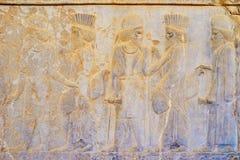 Soulagements antiques dans Persepolis, Iran photos libres de droits