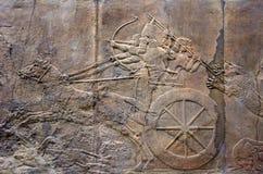 Soulagements de palais de Ninive dans British Museum à Londres R-U Photographie stock