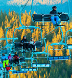 Soulevez à la station de sports d'hiver Images stock