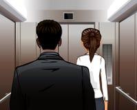 Soulevez avec l'homme et la femme Image stock