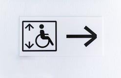 Soulevez pour des handicapés images stock