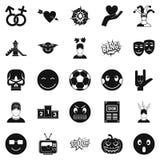 Soulful icons set, simple style. Soulful icons set. Simple set of 25 soulful vector icons for web isolated on white background Royalty Free Stock Photography