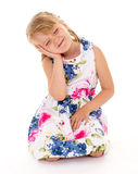 Soulful little girl. Royalty Free Stock Photos