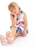 Soulful little girl. Royalty Free Stock Photography