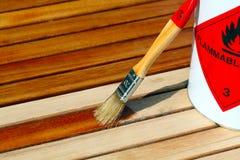 Soulignez la table en bois photographie stock